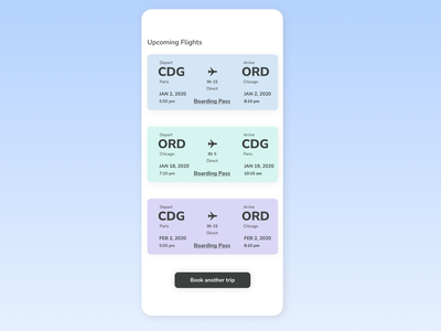 Daily UI 024- Boarding Pass Wallet colorscheme uifundamentals gradient spacing analogous design figma boardingpasswallet daily ui 024 daily ui