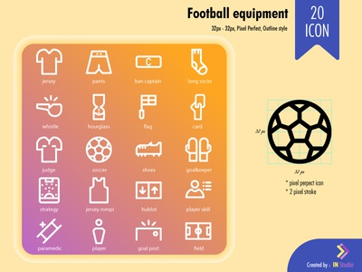 football equipment outline style 32px