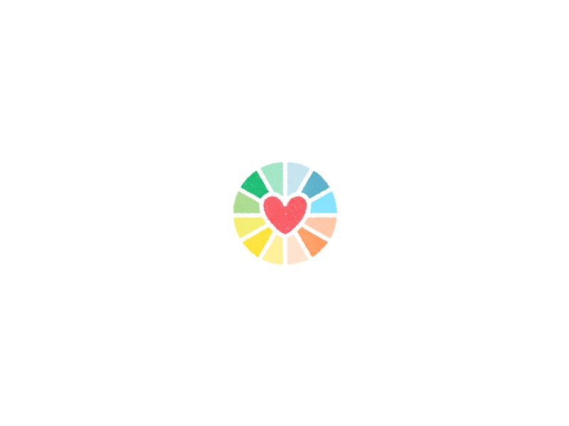 heart logo design by paulius kairevicius dribbble