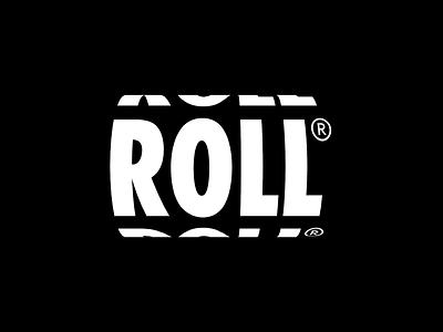 Roll Logo Design futuristic modern minimal lettering wordmark white black startup interactive dynamic 3d spin roll gif animation design logo bold