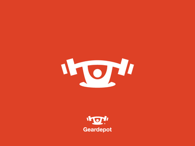 Iconic Geardepot Logo Design modern branding logo gear dumbbell logo design iconic logo