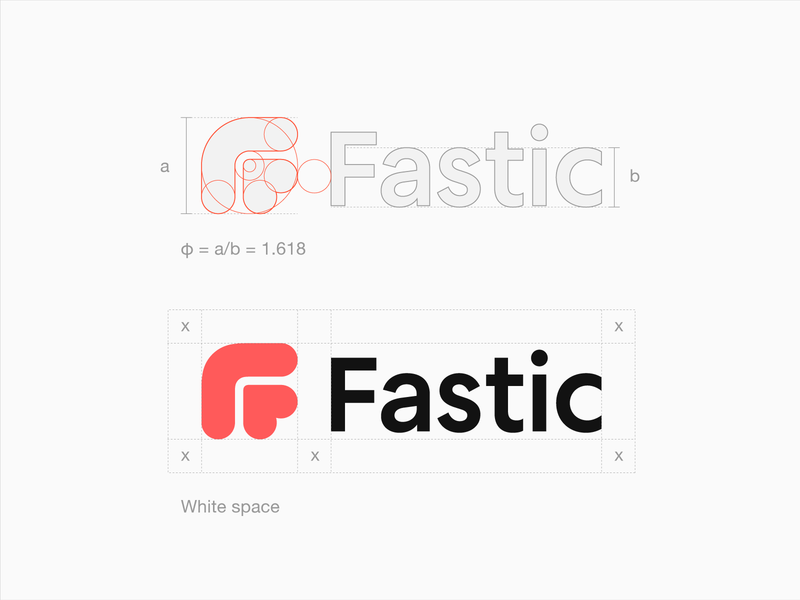Fastic Logo Design doctor organic humanistic fasting mark best freelance brand identity golden ratio love heart health wellness friendly startup design logo bold business