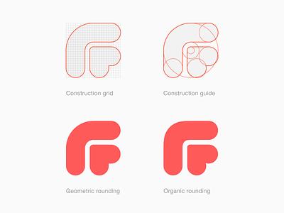 Fastic Logo Process squircle organic grid process lettermark monogram heart food fasting logo designer logotype brand identity logo design branding