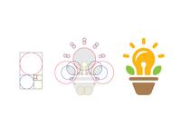 Golden Ratio Grow Your Ideas Logo Design
