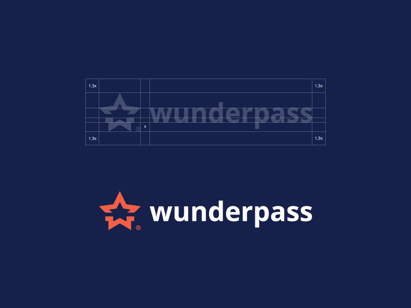 Wunderpass Logo Design logo design brand identity branding identity logotype brand mark corporate identity star logo minimalist logos paulius kairevicius membership card australia sydney