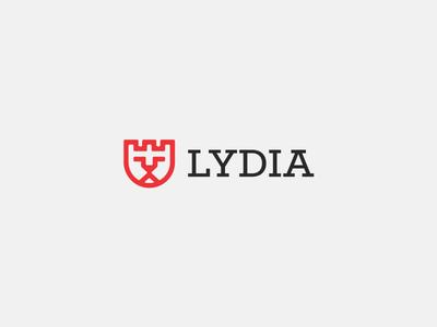 Lydia Logo Design iconic logo design symbol design branding brand identity brand mark trademark logo design minimalistic logos modern logos lion castle creative logos mobile payments