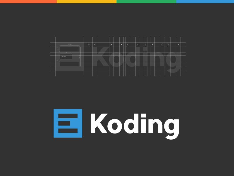 Koding Logo Design branding trademark brand identity logo design corporate identity brand mark minimalistic logos brand development brand identity guidelines geometric logos code university developer community
