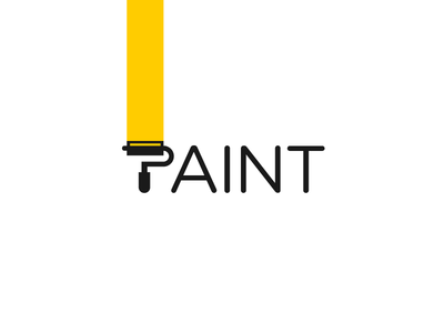 Paint Logotype painting brush logotype typography freelance dynamic identity wordmark design logo paint