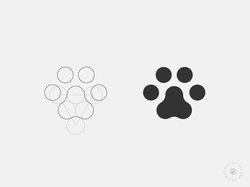 Cat Paw Logo Design