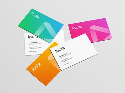 Loola Business Card tool platform stream identity business card fresh creative young logo design