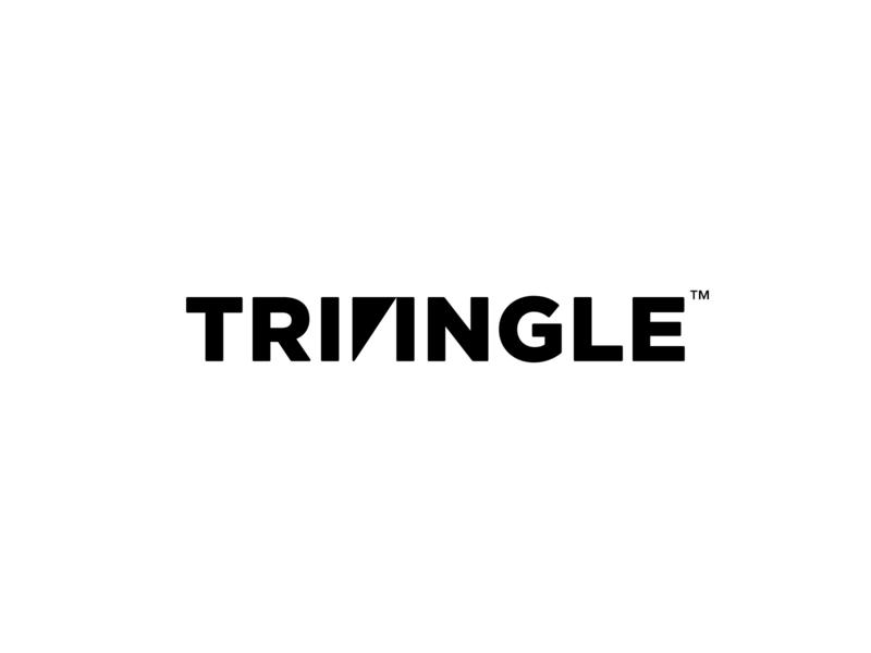 Triangle Logo typography best wordmark brand identity company logos custom graphic triangle idea logo designer corporate identity logo design