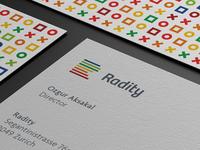 Radity Business Card / Logo Design