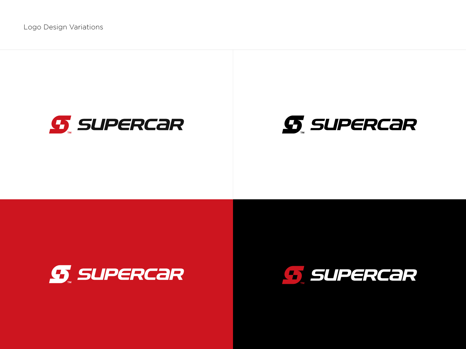 Supercar logo variations