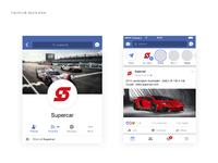 Supercar logo facebook