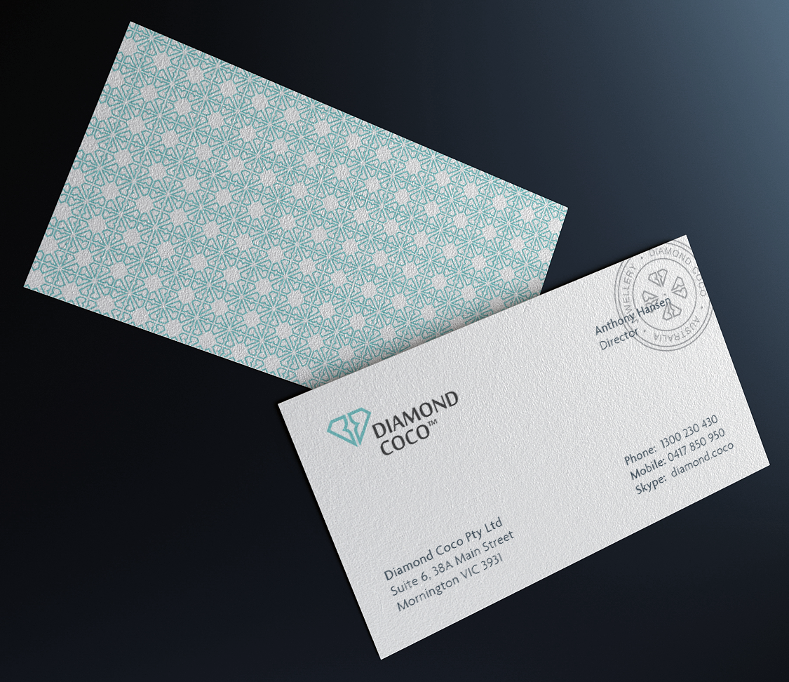dribbble diamond coco business card png by paulius kairevicius