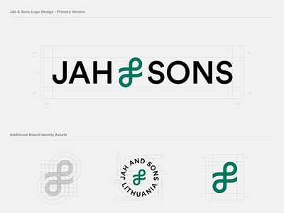 Jah & Sons Logo Design cannabis branding logo design wordmark logotype simple identity app icon brand designer tech startup inspiration friendly vector best typography