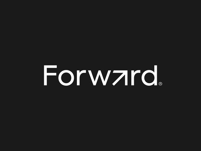 Forward Logo Design crypto professional futuristic modern startup freelance direction location movement friendly clever wordmark identity blockchain design logo minimal arrow forward business