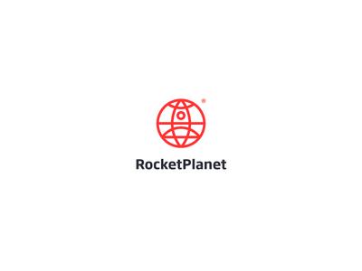 Rocket Planet Logo / Symbol