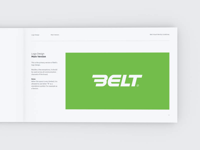 Belt Visual Brand Identity logotype grid cinema 4d fresh corporate startup guidelines identity belt rental rent car logo design brand book