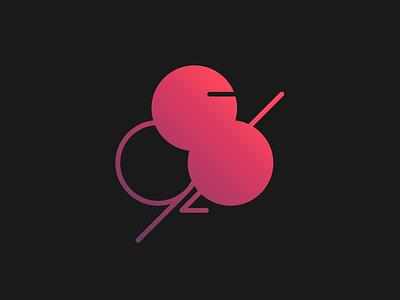 87-92 Logo identity brand gradient typography logo