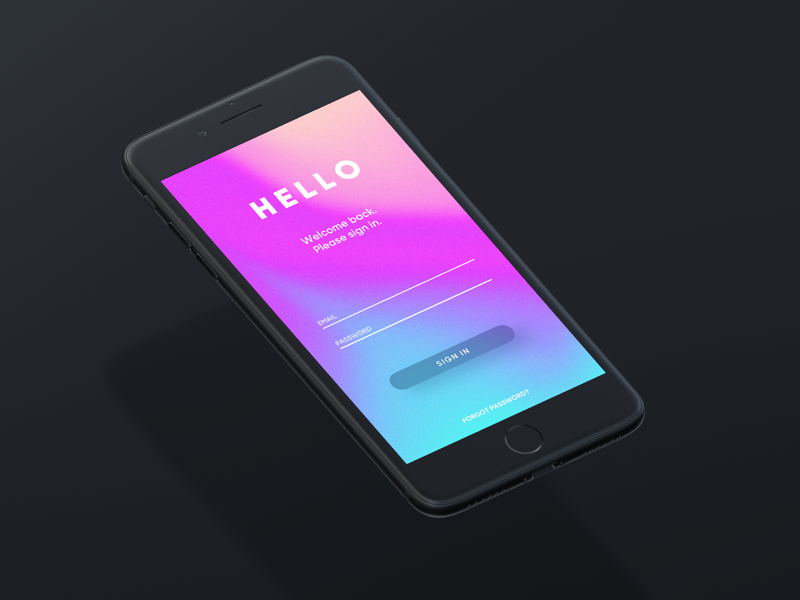 001 typography sign in gradient daily ui