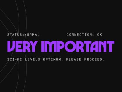 OK sci-fi wip identity typography