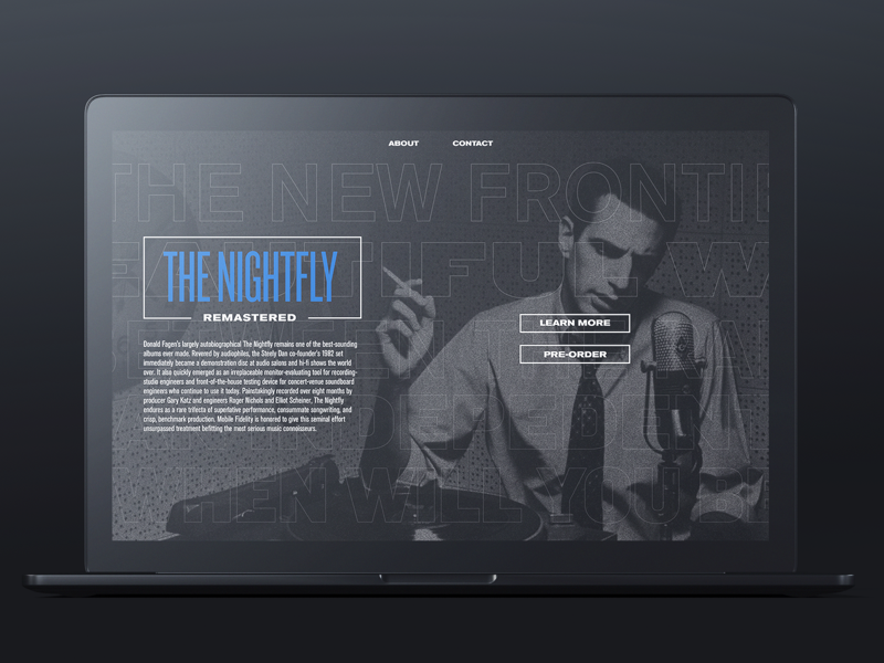 003 music nightfly donald fagen landing page web daily ui