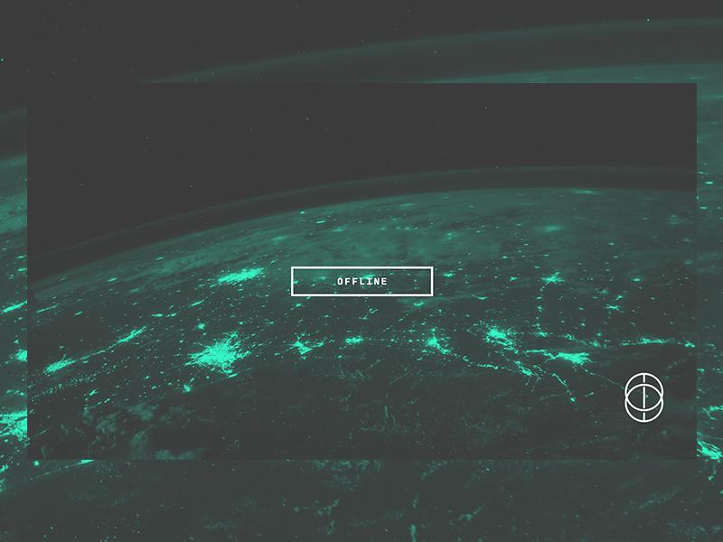 Offline offline logo streaming typography gaming