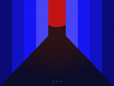 Nox noise saturation color art deco print abstract geometric