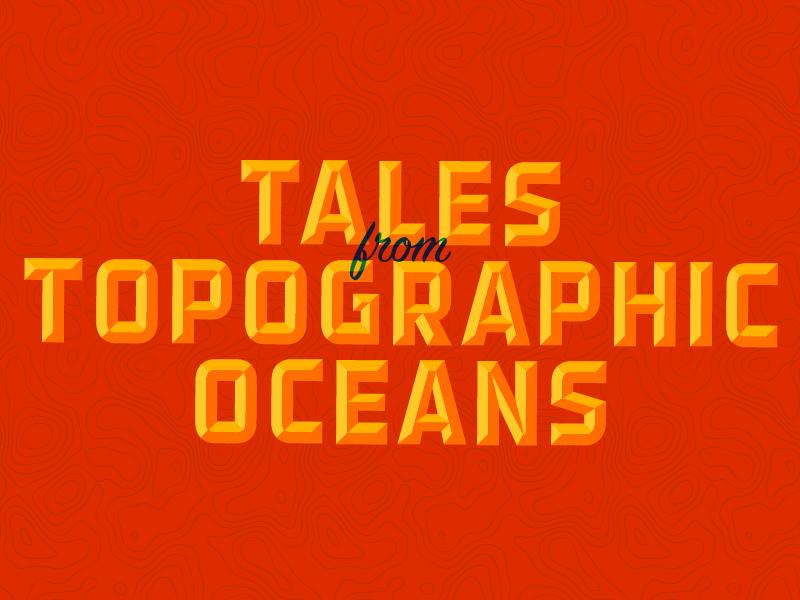Oceans detroit script vintage texture typography