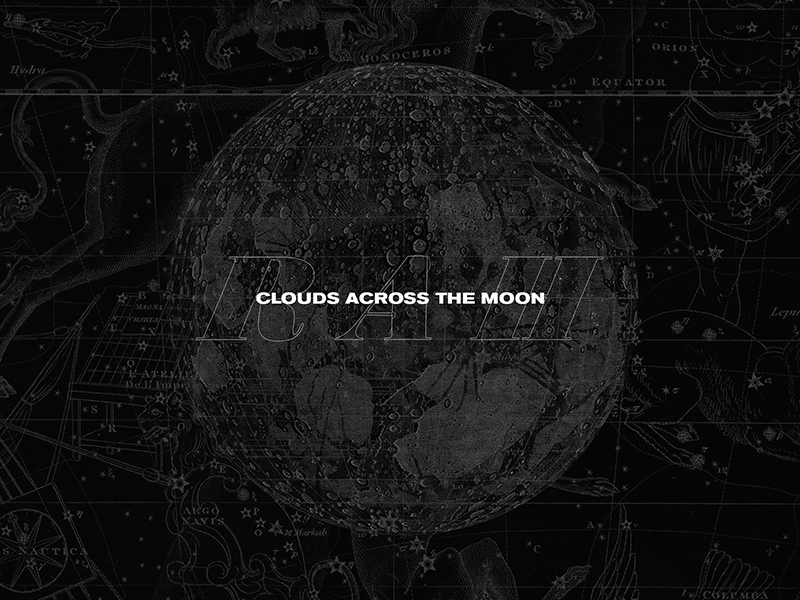 Clouds Across the Moon retro 80s minimal space typography
