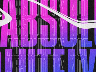 Nope experimental texture abstract gradient brutalist typography