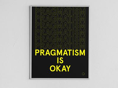 It's really okay flat poster yellow minimal typography