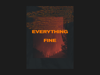 Everything is Fine stretch print poster abstract typography