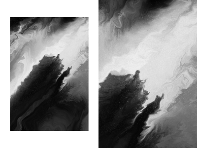 12/3/19 wallpaper grain texture grain monochromatic abstraction illustration procreate painting fluid liquid abstract art abstract