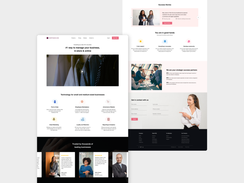 Business Online Store website ux uidesign success techonology marketing online store business