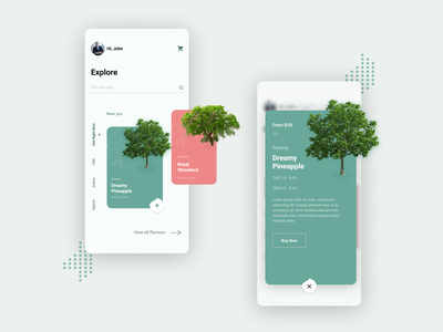 Plants and Trees postivity freshness design ux ui ios trending buying earth plants trees nature