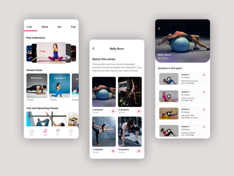 Workout App workout training exercise fitness yoga app ios design ux ui