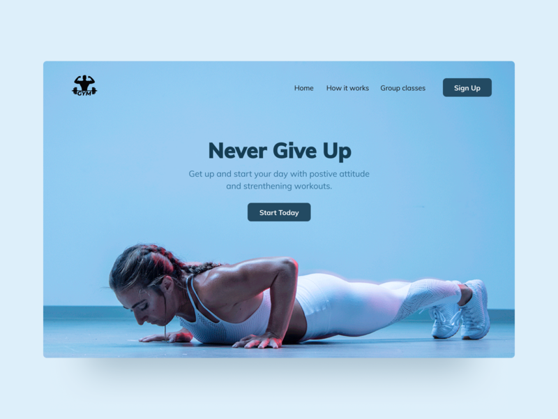 Fitness Landing Page website ux ui landing fitness