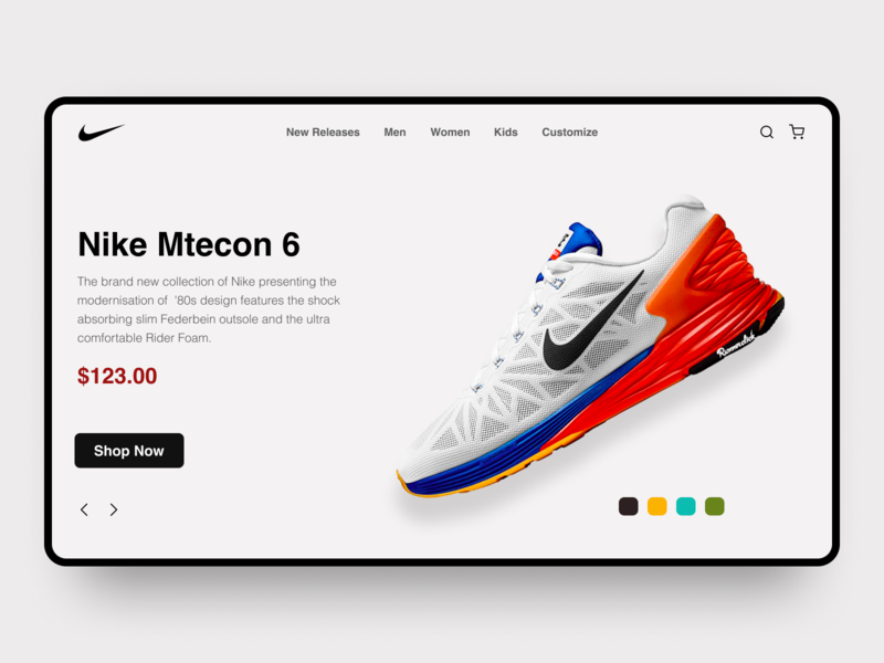 Shoes Hero Section designs website design ux ui herosection landing page shoes