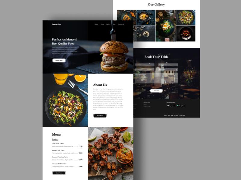 Restaurant Website booking food landingpage lounge hotel website restaurant