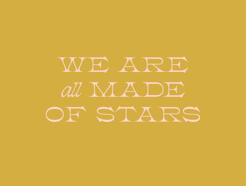 Stardust quote design typography minimal serif typeface reverse contrast retro font type branding logo