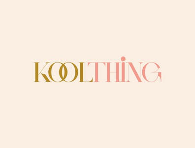 Kool Thing Logotype brand serif font fashion brand fashion minimal brand identity typography type branding logo