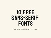 10 FREE Sans-Serif Fonts