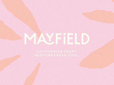 Mayfield Restaurant Logo Design bar branding cafe logo menu design pattern minimal abstract restaurant restaurant branding restaurant logo brand identity brand typography branding logo