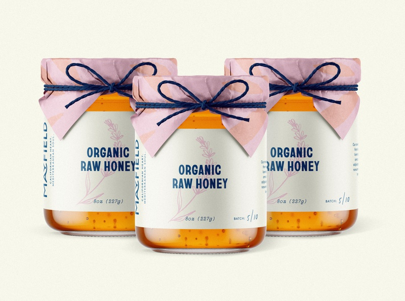 Raw Honey Packaging brand identity minimal illustration typography type packaging branding logo honey packaging design