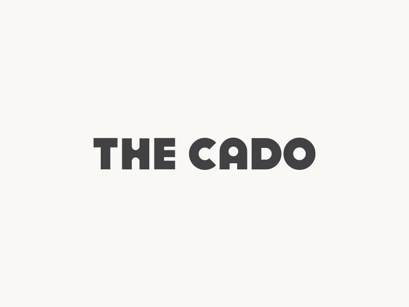 Cado Logo brand identity retro modern geometric minimal typography 70s logotype type branding logo