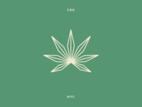 Marijuana leaf logo