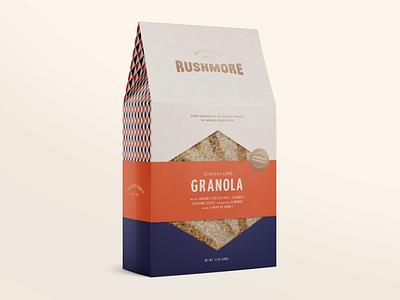 Granola Packaging geometric pattern food packaging food packaging design granola retro packaging typography brand identity type minimal branding logo