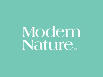 Modern Nature CBD Logo brand typography brand identity type minimal branding logo cannabis packaging cannabis hemp cbd vitamins vitamin supplement supplements